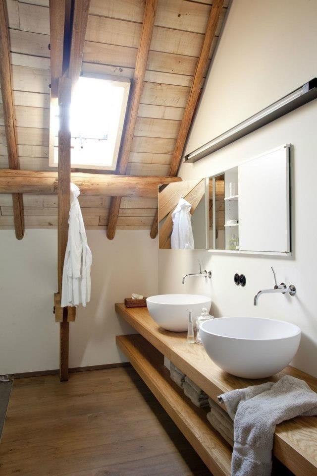 houten badkamerplank