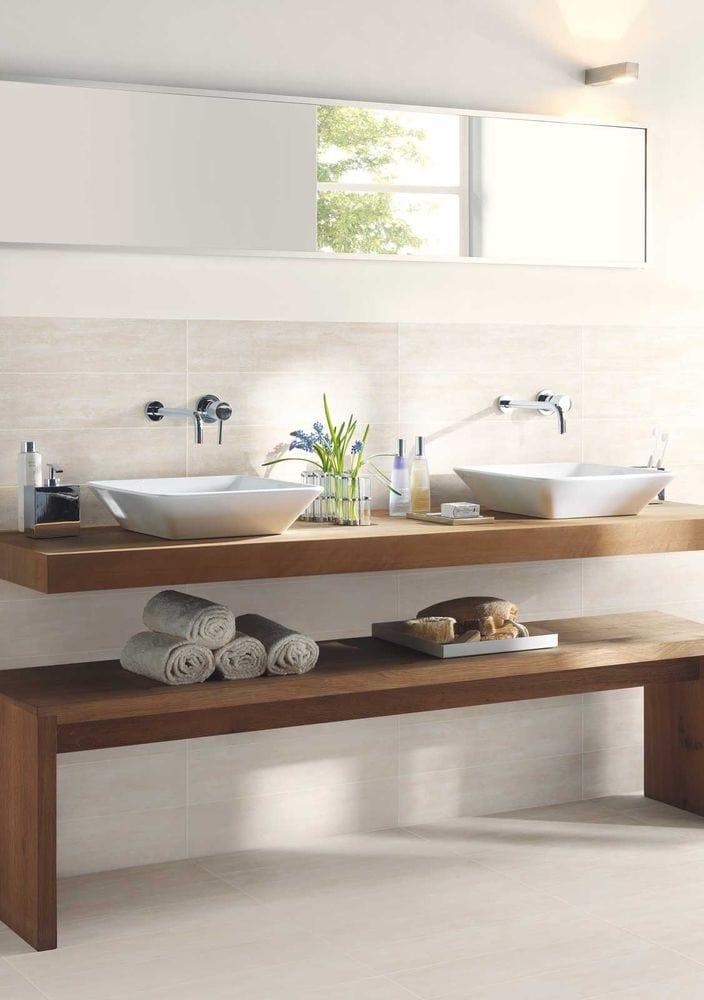 ... behandelen van hout in de badkamer om het hout waterafstotend te maken