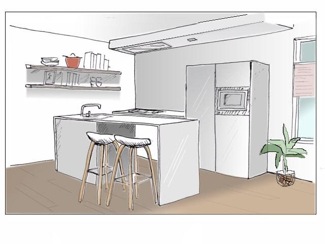 Interieurontwerp tekening interieur meubilair idee n for Interieur tekenen