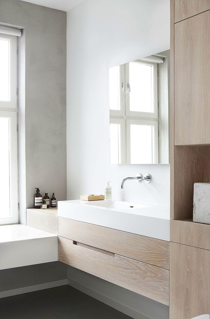 Een houten badkamermeubel natuurlijk stijlvol danielle verhelst interieur styling breda - Lavabos ontwerp ...