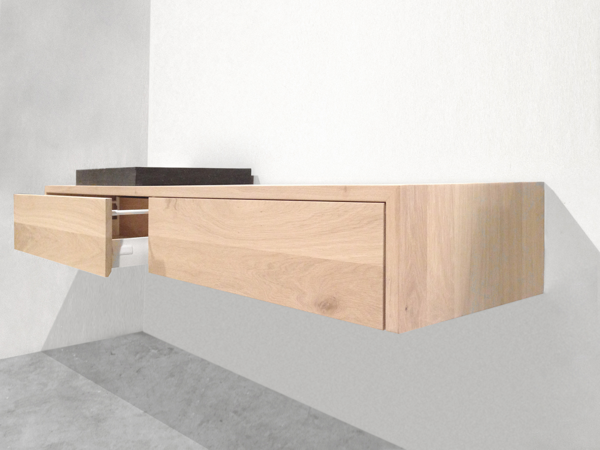 Zelf Te Maken Eiken Badkamer Meubels : Een houten badkamermeubel ...